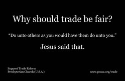 Why should trade be fair?